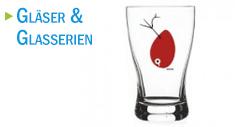 Modernes Glas für Cocktails oder als Trinkbecher mit zweifarbigem Werbedruck