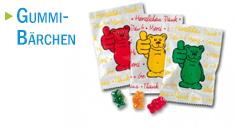 Gummibärchen mit Logodruck
