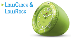 LolliClock und LolliRock mit Ihrer Werbung