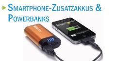 Powerbank mit einem iPhone, das geladen wird