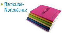 Werbe-Notizbücher aus Recycling-Materialien