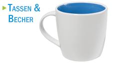 Kaffeetassen und Teebecher mit Werbedruck