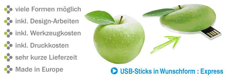 USB-Sticks in Form Ihres Logos, Produkts etc.